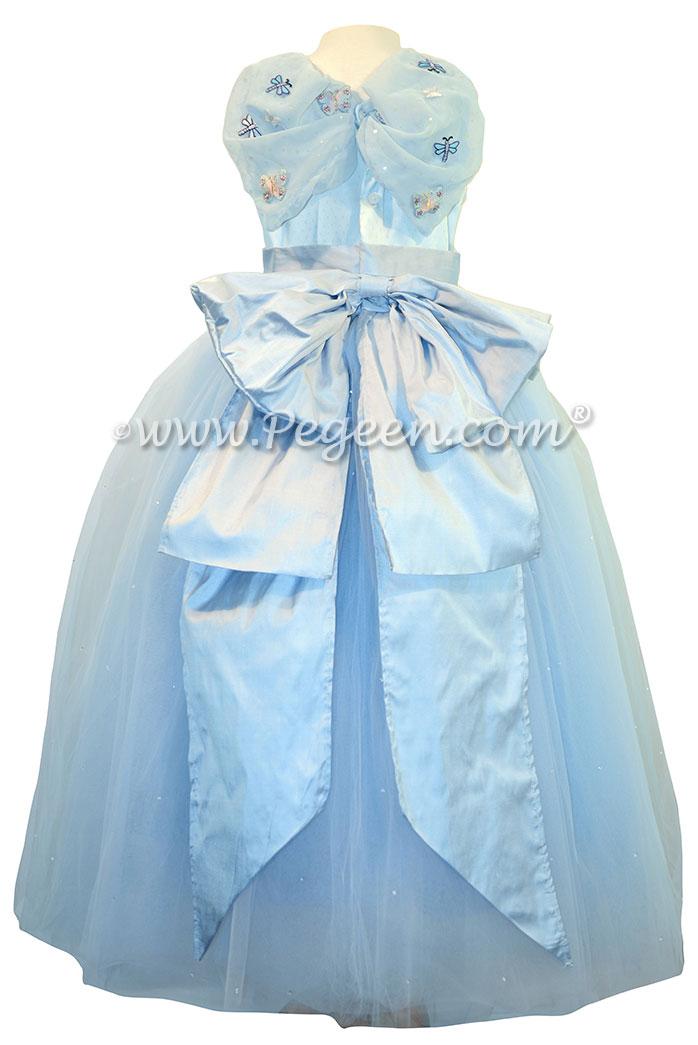 The Blue Quartz Fairy - Cinderella style Flower Girl Dress