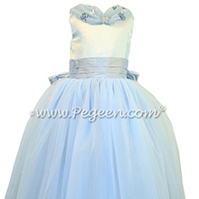 Light and Powder Blue Shades - Our Cinderella Princess Flower Girl Dresses
