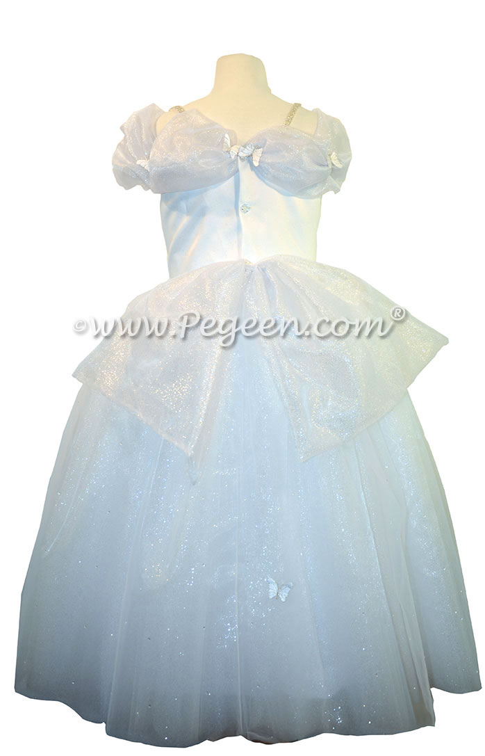 First Holy Communion Dress in white with butterflies - Our Cinderella Princess Flower Girl Dresses called Aura Quartz