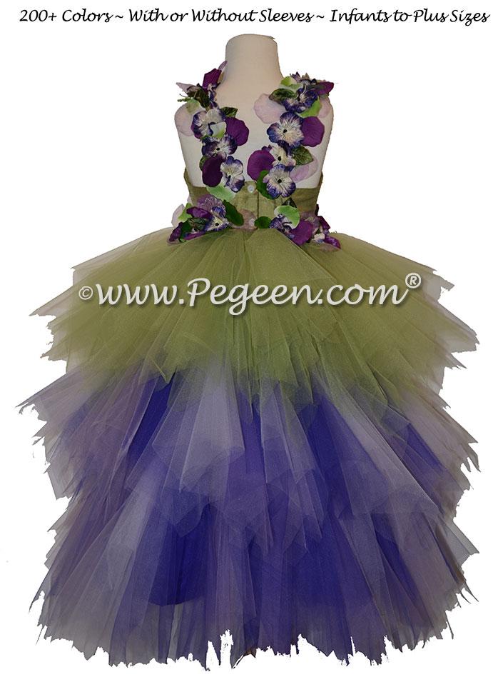 Enchanted Fairy Handkerchief Tulle Skirt Flower Girl Dress