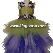 Enchanted Fairy Handkerchief Tulle Skirt with Flower Trim Style 920