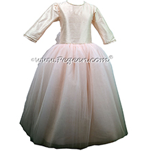 Baby Pink -- Custom Tulle Ballerina Style Jr. Bridesmaids Dress