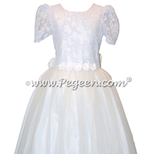 Antique White First Communion Dress Style 963