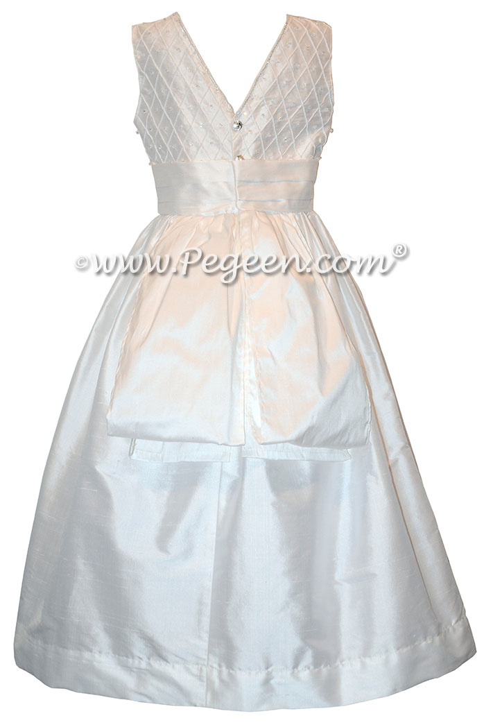 Antique White First Communion Dress Style 983