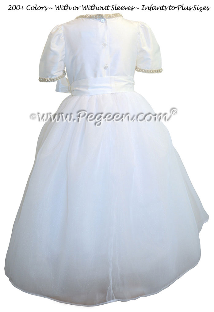 Antique White First Communion Dress Style 990