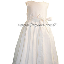Antique White Box Pleat Skirt First Communion Dresses Style 991