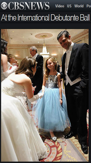 A little girl dreams of becoming a debutante in Pegeen Style 496 at the 60th Annual Debutante Ball in NYC