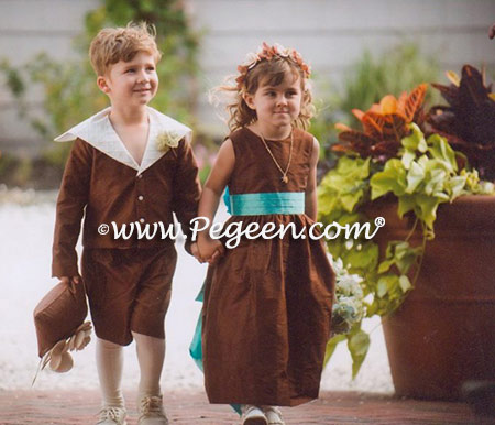 Ringbearer Style 240 and flower girl dress in style 398