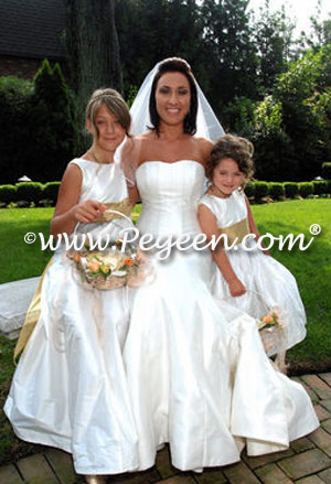 gold flower girl dresses