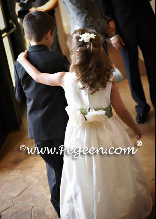 sage green flower girl dress