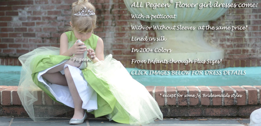 Pegeen flower girl dresses all come with petticoats