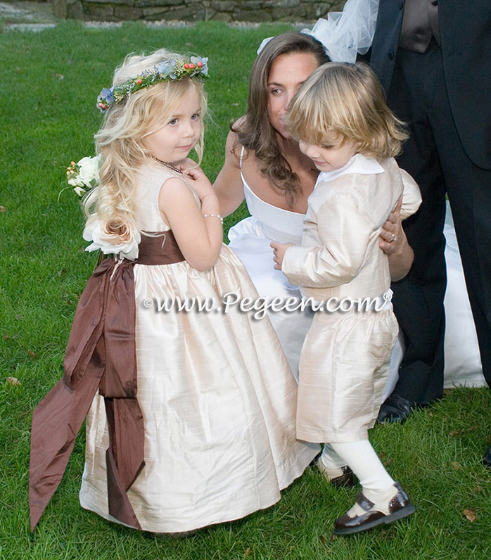 Ivory and Champagne Ring Bearer Suit
