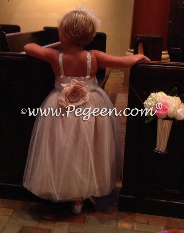 Champagne flower girl dresses - Topaz from The Fairytale Collection