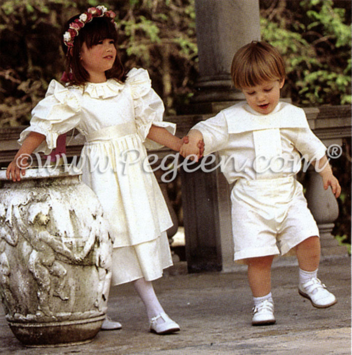 Flower girl and ringbearer set from Pegeen