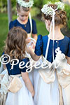 Custom navy and Gold Flower Girl Dresses
