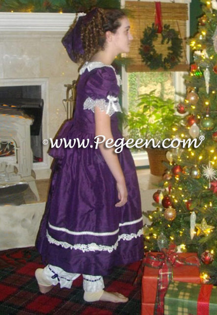 Nutcracker party scene dresses personalized with antique laces from our client's collection
