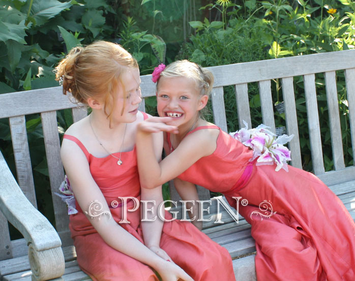 Melon and sorbet Jr. Bridesmaids Dresses