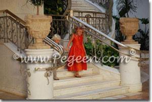 Mango Orange CUSTOM FLOWER GIRL DRESSES