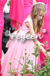 Featured Custom Tulle Flower Girl Dress in Bubblegum Pink and Cerise Pink
