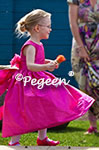 August 2013 Flower Girl Dress of the Month in Shock (Hot Pink) Silk
