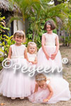 Flower Girl Dresses in of the Month for September 2015 in Ballet Pink and Bisque