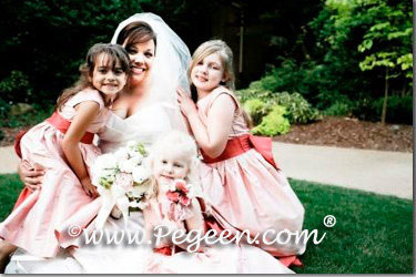 Lotus Pink and beauty flower girl dresses