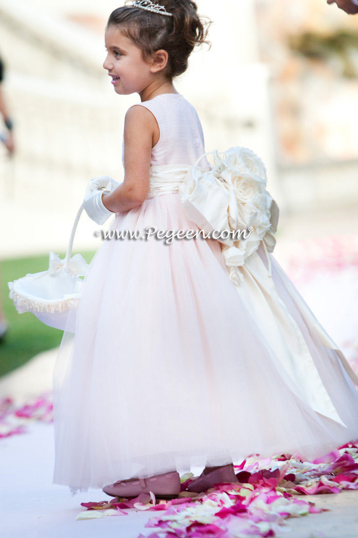 Pink tulle flower girl dress of the year Style 402