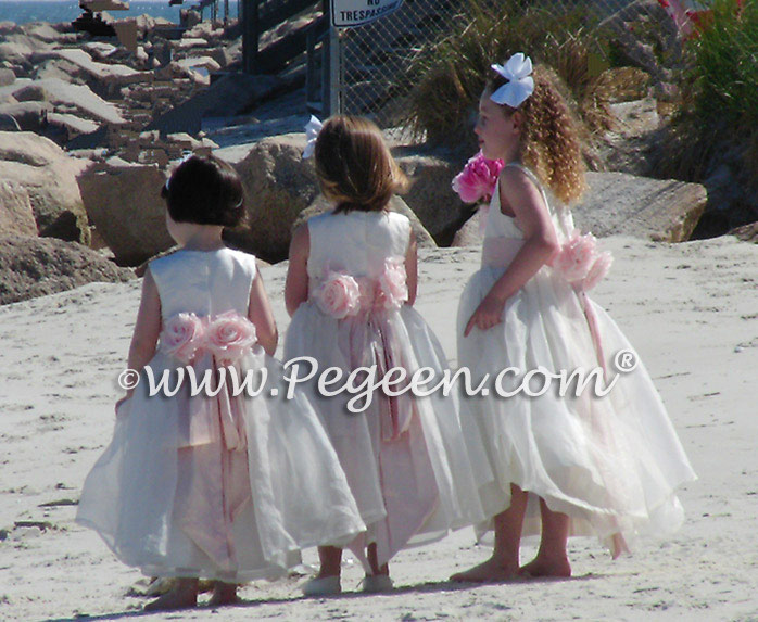 Flower Girl Dress of the Month Ivory and Blush - Beach Wedding ...