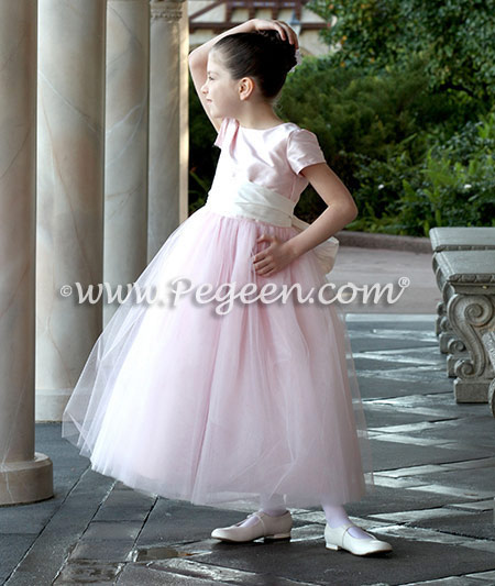 Custom Flower Girl Dresses for Disney Photo Shoot - Pegeen Couture Style 402