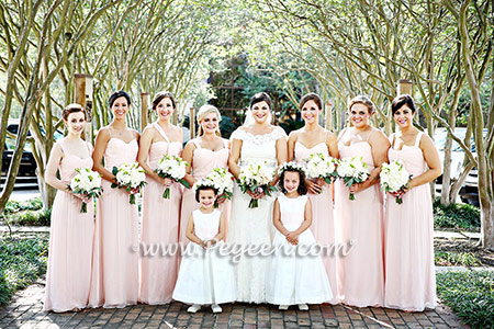 From Pegeen Classics - Girls Flower Girl Dresses in Ivory and Blush Pink Silk