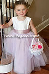 june 2013 Flower Girl Dress of the Month in Light Plum and Antique White Silk and Tulle