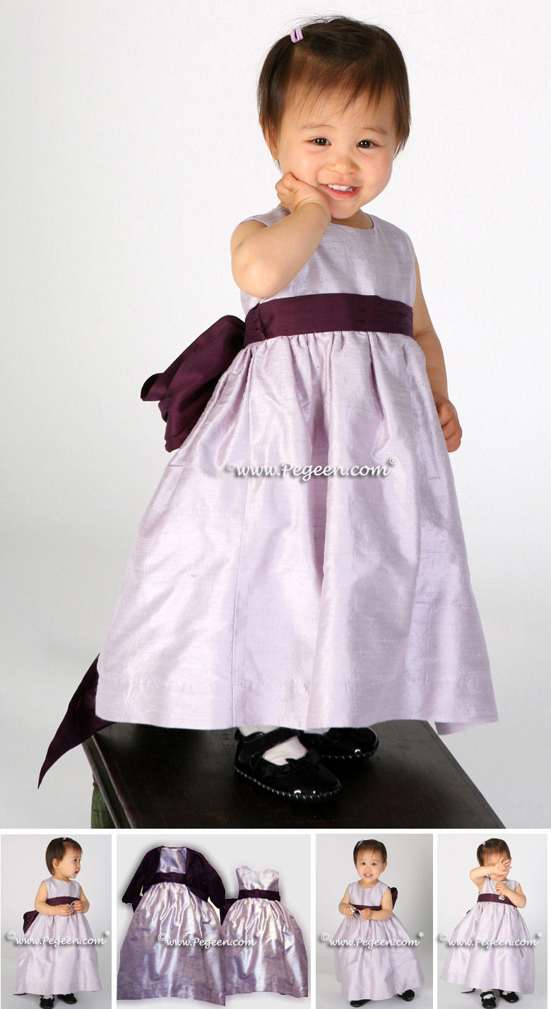 Toddler Lavender and 1000 Nights Custom Silk Flower Girl Dress Style 398 | Pegeen Classics