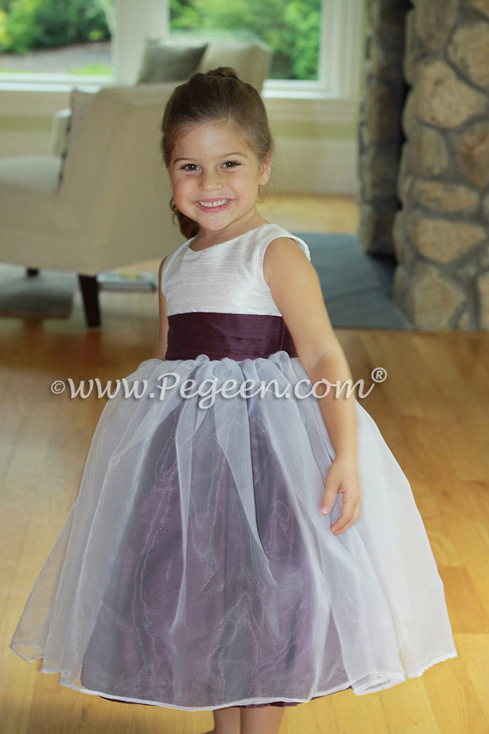 1000 Nights Custom Silk Flower Girl Dresses with An Organza Skirt from Pegeen Classics Style 301