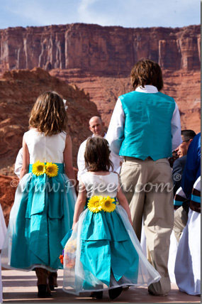 Turquoise Flower Girl Dresses - Pegeen Style 313