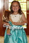 Custom flower girl dress in tiffany blue
