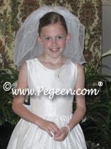 Communion Dresses in white silk