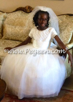 First Communion Dress Style 993 by Pegeen Heavenly White Collection