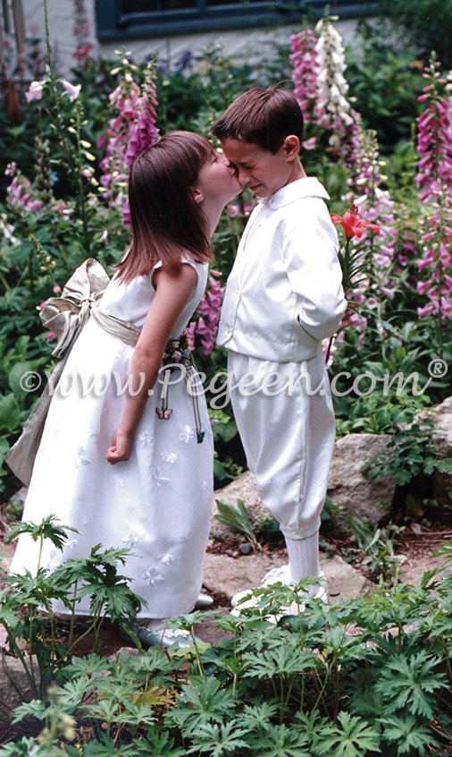 Flower girl dress and ring bearer suit
