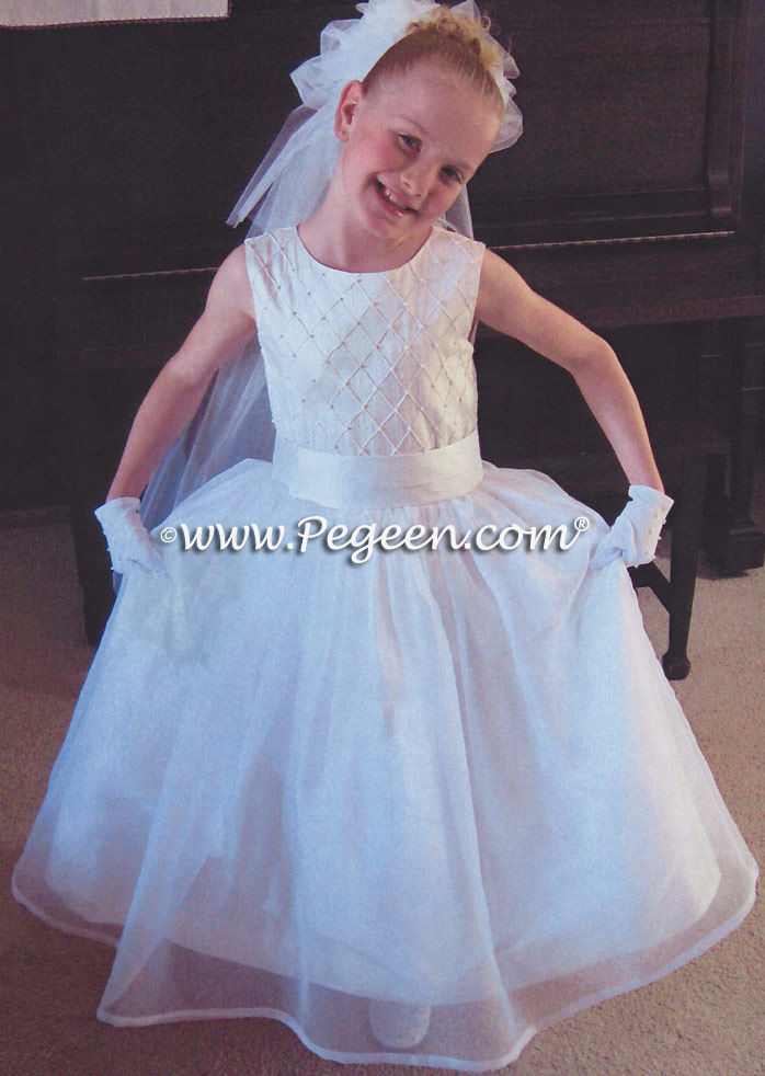 Communion Dress 409 plus organza skirt