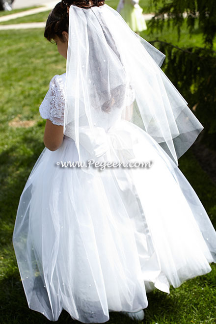 White First Communion Dress style 411 by Pegeen Couture