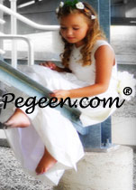 Communion Dresses in white silk