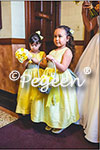 Flower Girl Dresses in Saffron Yellow and Silver Gray