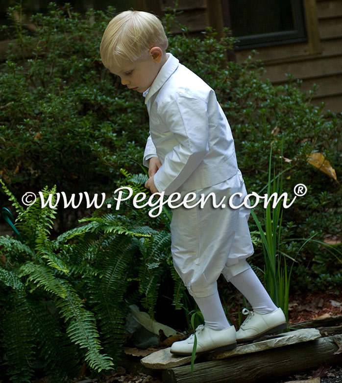 Style 215 Boys Ring Bearer Suit in New Ivory