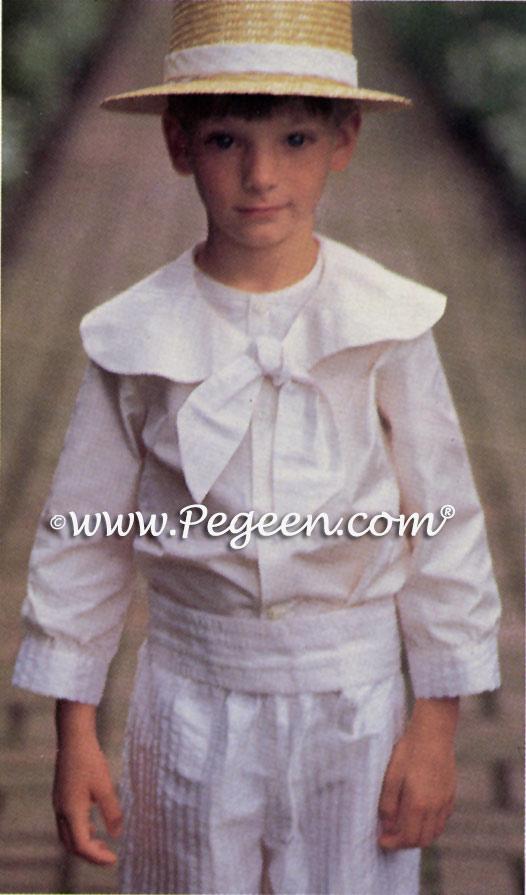 Boys Silk Ringbearer Suit in Toffee