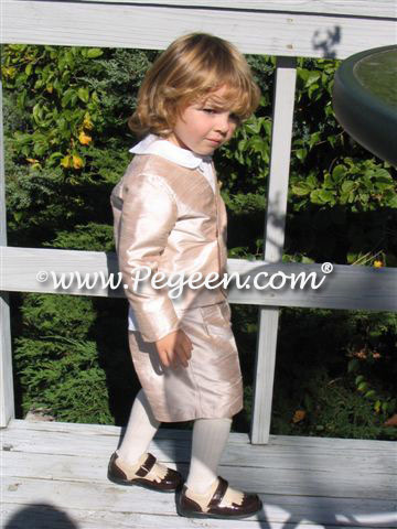 Boys Silk Ringbearer Suit in Toffee