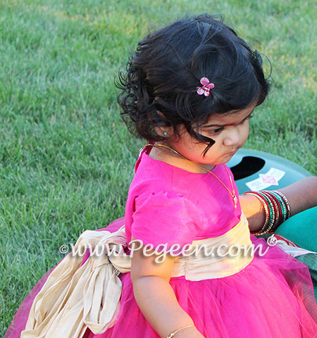 Custom Flower Girl Dresses for a 1 year old's birthday - Pegeen Couture Style 402