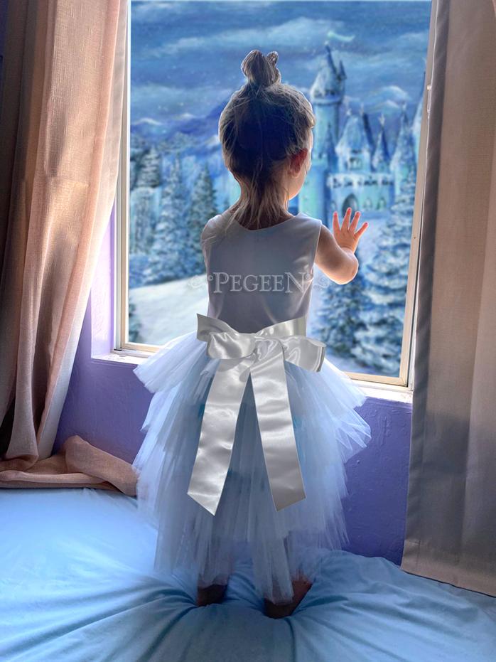 Tulle budget flower girl dress Style 1102 Under $100