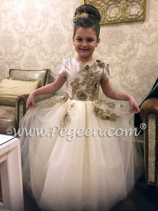 Our customer chose this flower girl dress from our Pegeen Fairy Tale Collection flower girl dress called The Princess Fairy