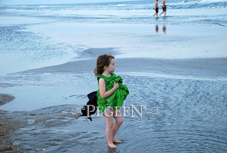 Flower girl dress at the beach