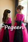 Flower Girl Dresses in Hot Pink and Black